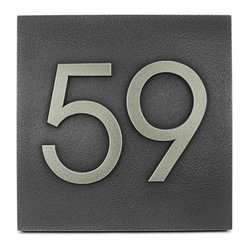Modern advantage home numbers 8 x 8 we think the large for Mid century modern address numbers