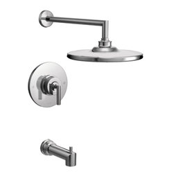 Moen - Moen TS22003EP Arris Chrome Posi-Temp Tub/Shower - Moen TS22003EP Arris Chrome Posi-Temp Tub/Shower. Arris Accessories offer sharp angles and tubular lines that dominate each piece in this modern collection, not just with style but with functional products also. This Chrome Posi-Temp Tub/Shower brings a modern look to your bath, and completes the overall look and design of your bathroom. Additional features Include; LifeShine finish that assures the ultimate in durability and is guaranteed not to tarnish, corrode or flake off,