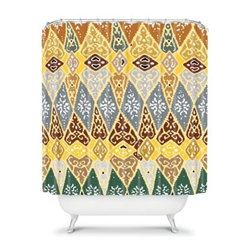 DENY Designs Romi Vega Diamond Tile Shower Curtain - The DENY Designs Romi Vega Diamond Tile Shower Curtain is sure to make you fall in love. This uniquely-styled shower curtain is made from durable woven polyester with a stunning design you'll love.About DENY DesignsDenver, Colorado based DENY Designs is a modern home furnishings company that believes in doing things differently. DENY encourages customers to make a personal statement with personal images or by selecting from the extensive gallery. The coolest part is that each purchase gives the super talented artists part of the proceeds. That allows DENY to support art communities all over the world while also spreading the creative love! Each DENY piece is custom created as it's ordered, instead of being held in a warehouse. A dye printing process is used to ensure colorfastness and durability that make these true heirloom pieces. From custom furniture pieces to textiles, everything made is unique and distinctively DENY.