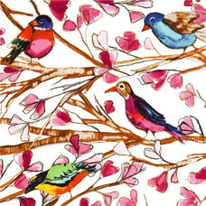 Fabric Michael Miller fabric Wing Song bird flower branch