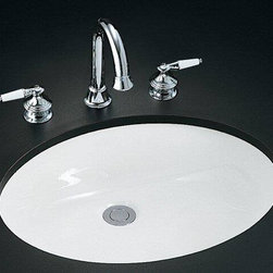"Kohler - Kohler K-2211-G-0 White Caxton Caxton 19"" Undermount Bathroom Sink - Product Features:Oval basin couples functionality with aesthetic appealCovered under Kohler s limited lifetime sink warrantyConstructed of Vitreous china providing a classic look and feelSimple, streamlined design that s as versatile and attractiveSleek look of an integrated basin with timeless designUndermount installation delivers the classic look and feel to any bathroomCenter drain location provides optimal draining capabilityAll hardware needed for installation includedProduct Technologies / Benefits:Undermount Sinks: Create a seamless counter-to-basin transition. Sleek styles and ease of cleaning are what makes these the preferred design choice.Product Specifications:Height: 7-1/2"" (measured from the bottom of sink to the top of the rim)Overall Width: 17-1/4"" (measured from the back outer rim to the front outer rim)Overall Length: 21-1/4"" (measured from the left outer rim to the right outer rim)Basin Width: 15"" (measured from the back inner rim to the front inner rim)Basin Length: 19"" (measured from the left inner rim to the right inner rim)Basin Depth: 4"" (measured from the center of basin to the rim)Installation Type: UndermountNumber of Faucet Holes: 0Drain Outlet Connection: 1-3/4""Minimum Cabinet Base Width: 9-1/2"""