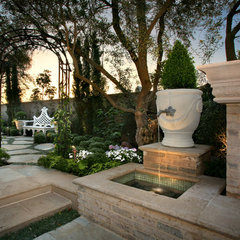 mediterranean landscape by AMS Landscape Design Studios, Inc.