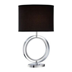 Illumine - Black Living Room Lamp: 27 in. Chrome Table Lamp with Black Fabric Shade CLI-LS- - Shop for Lighting & Fans at The Home Depot. The Designer Collection supplied by Commercial Lighting Industries is both modern and stylish, all while maintaining the ability to fuse together many different genres. This collection finds itself at home in many of today s popular design schemes. Whether you re looking for lamps, wall-Lighting, pendants, or novelty lamps, the Designer Collection offers a lighting solution that is sure to satisfy any of your lighting needs.