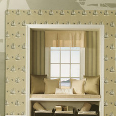 Traditional Living Room by American Blinds Wallpaper and More