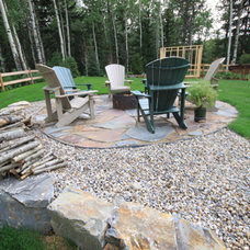 Traditional Patio by Prairie Outpost Garden Design INC.