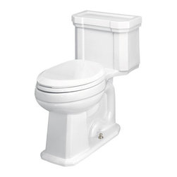 """St Thomas - St Thomas 6125.128.01 White Richmond One-Piece Elongated Toilet - Richmond One-Piece ECO-Quattro Flush Elongated Toilet  1.28 GPF ECO-Quattro flush system Chair-height elongated bowl with integral tank 28.94""""L  x 14.75""""W x 28.375""""H 12"""" rough-in EPA WaterSense Certified"""