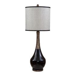 Bassett Mirror - Bassett Mirror Babson Table Lamp L2574TEC - Bassett Mirror Babson Table Lamp L2574TEC