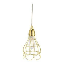 Gold Wire Rose Pendant Light