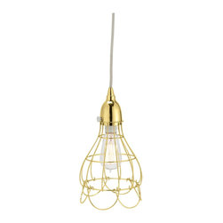 Lazy Susan - Lazy Susan 225054 Gold Wire Rose Pendant Light - You can't resist the classic charm of this delicate iron-wire design. Conjuring petals drooping from a bulb, this pendant melds exquisite design with dependable lighting. With a hand-applied finish and sturdy construction, this pendant strikes a perfect balance between enviable aesthetic and genteel practicality.