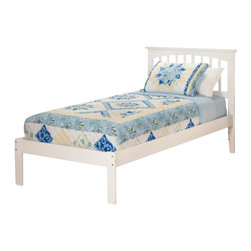 Atlantic Furniture - Atlantic Furniture Mission Bed with Open Foot Rail in White-Twin Size - Atlantic Furniture - Beds - AR8721002