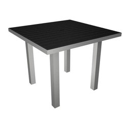 Home Decorators Collection - PolyWood® Square Dining Table - The PolyWood® Square Dining Table offers bold, fade-resistant color and the durability of high-density polyethylene, an exceptionally sturdy plastic with infinite recycle-ability. Perfect for intimate outdoor meals with friends and family, these HDPE patio tables have exceptional resistance to corrosive substances such as oil, fuels, insects, fungi, salt spray and other environmental stresses. Order yours now and enjoy year after year of bright, colorful style that will look just as gorgeous as the day you bought it. Requires no water proofing, painting, staining, or similar maintenance. Does not absorb moisture and therefore will not rot, splinter, or crack. Over 90% of its HDPE construction is made from post-consumer bottle waste. Complement your purchase with the entire PolyWood® Collection of patio furniture. Multiple color options available.