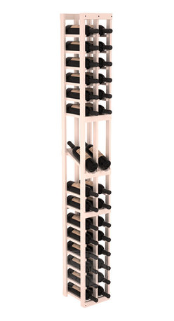 2 Column Display Row Cellar Kit in Pine with White Wash Stain + Satin Finish - Make your best vintage the focal point of your wine cellar. High-reveal display rows create a more intimate setting for avid collectors' wine cellars. Our wine cellar kits are constructed to industry-leading standards. You'll be satisfied. We guarantee it.