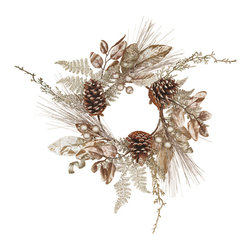 "Oddity - Oddity Christmas Party Decor 6"" Platinum Leaves, Berry and Tendril Candle Ring - Holiday elegance at its finest. Decorating is easy as ever with this shining star. A touch of glitter and a whole lot of style just the style for glamorous decor."