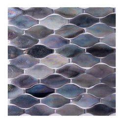 "GL Stone - Wavy Shaped Glass Mosaic Tile, Light Grey and Drak Grey, Sample - The grey wave shaped glass mosaic tile Its stunning design and unique pattern will bring warmth and a natural ambiance to your interior decor. The mesh backing not only simplifies installation, it also allows the tiles to be separated which adds to their design flexibility. Each sheet measures 12.0"" x 12.0""  ( 1 sq. ft.) This glass wall tiles are perfect for any interior or exterior projects such as kitchen backsplash, bathroom wall, shower surround, dining room, entryway, etc."