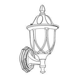 "Designers Fountain - Designers Fountain 2868-AG 1 Light 9"" Cast Aluminum Wall Lantern from the Capell - Features:"