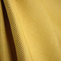 Geometric Textured Gold Upholstery Drapery Fabric - Gold geometric upholstery fabric with a subtle diamond design.  Heavy and durable for covering furniture, making throw pillows or cover cornice boards.