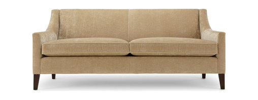 Mitchell Gold + Bob Williams - Diane's Sofa - A tight back and cozy loose cushions create the best of both sofa worlds. Supportive, comfortable and made with silky velvet, you can recline with ease, and you may never want to get up and go to bed. Slim sloping arms and a modern design make this settee a standout.