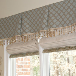 Window Treatments - Kitchen window treatments add the finishing touch to this redesigned space.  By Teresa Norwood