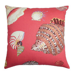 The Pillow Collection - Rayen Pink 18 x 18 Coastal Throw Pillow - - Pillows have hidden zippers for easy removal and cleaning  - Reversible pillow with same fabric on both sides  - Comes standard with a 5/95 feather blend pillow insert  - All four sides have a clean knife-edge finish  - Pillow insert is 19 x 19 to ensure a tight and generous fit  - Cover and insert made in the USA  - Spot clean and Dry cleaning recommended  - Fill Material: 5/95 down feather blend The Pillow Collection - P18-D-21020-CORAL-C100
