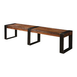 Four Hands - Warren Bench - This rough yet refined bench will make an ideal addition to your favorite setting. Crafted by hand from sustainably harvested peroba wood, it's both classic and eclectic.