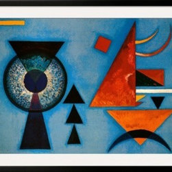 Artcom - Weiches Hart by Wassily Kandinsky - Weiches Hart by Wassily Kandinsky is a Framed Art Print set with a SOHO Black wood frame and a Crisp - Bright White mat.