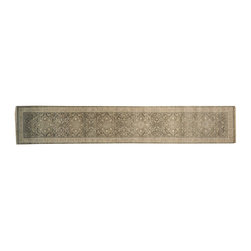 100% Wool 3'x14' Hand Knotted Silver Wash Heriz XL Runner Oriental Rug SH14711 - Hand Knotted Oushak & Peshawar Rugs are highly demanded by interior designers.  They are known for their soft & subtle appearance.  They are composed of 100% hand spun wool as well as natural & vegetable dyes. The whole color concept of these rugs is earth tones.