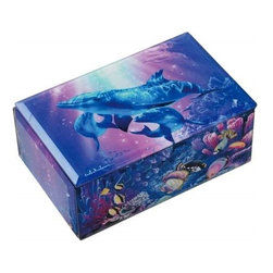 Westland - Majestic Family of Dolphins Embracing Under Water Music Box - This gorgeous Majestic Family of Dolphins Embracing Under Water Music Box has the finest details and highest quality you will find anywhere!