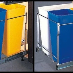 Website Catalogue - bottom cupboard bin slide out. Different bin configurations available.