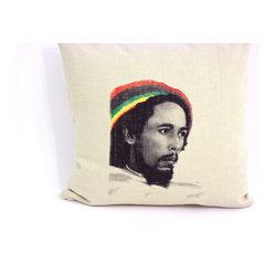 Bob Marley Decorative Throw Pillow