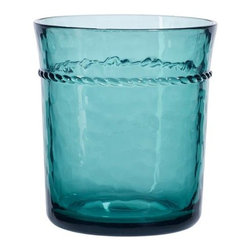 Rope Outdoor Drinkware, Set of 4 - I love the color on this melamine tumbler — you thought I was going to say glass, right? This elegant collection comes in a multitude of colors and sizes and would be perfect for your next barbecue or beach escapade.