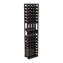 4 Column Display Row Cellar Kit in Pine with Black Stain - Make your best vintage the focal point of your wine cellar. Four of your best bottles are presented at 30° angles on a high-reveal display. Our wine cellar kits are constructed to industry-leading standards. You'll be satisfied with the quality. We guarantee it.