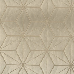 Villa Romo - Villa Romo Tatami Lustre Wallpaper - Wallpaper CalculatorThe surface on this wallpaper is very smooth, and the geographic shapes are raised to give it an interesting texture.