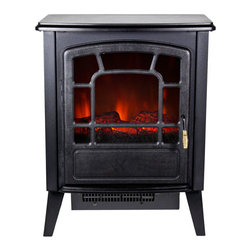 "Frigidaire RSF-10324 Bern Retro 110v Electric Free Standing Floor Fireplace - The Frigidaire RSF-10324 Bern Retro-Style Floor Standing Electric  Fireplace creates a warm and cozy environment in your living space. This  portable fireplace brings instant warmth and comfort to any room with  its realistic flame effect and dual heat settings. It has built-in  automatic overheat protection that puts you at ease during unexpected  power fluctuations and accidental vent blockage. No assembly or  additional hardware is needed, simply plug and heat. Plus, the periodic  design, cool touch housing and portability simply make it one of a kind3540aFeatures: - Bern floor standing electric fireplace heats up to 370 sq. ft.- Dual heat settings (700 Watts/2400 BTU; 1400 Watts/4800 BTU) offers flexibility to choose your heating preference- Built-in overheat protection with auto safety shut-off- Realistic logwood flame effect- Flames operate with heat only- Flames include adjustable brightness- Flames do not include realistic crackling sound- Cool touch housing- Portable design so you can move the unit from room to room- Retro style brings a sense of nostalgia and comfort to any room dcor- No assembly or hardware needed, simply plug in and heat- Size: 20.35""H x 10.4""D x 16.8""WSPECIFICATIONS: - Retro-style floor standing electric fireplace- Dual heating setting: 700/1400 Watts; 2400/4800 Heat BTU- Realistic logwood flame effect- Adjustable flame brightness- Cool-touch housing- Portable design- No assembly needed - just plug in and heat- 1-year limited warranty 3540b"