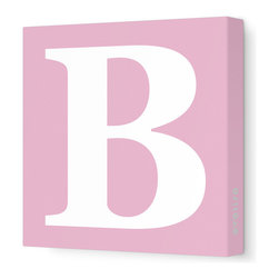 "Avalisa - Letter - Upper Case 'B' Stretched Wall Art, Pink, 18"" x 18"" - Spell it out loud. These uppercase letters on stretched canvas would look wonderful in a nursery touting your little one's name, but don't stop there; they could work most anywhere in the home you'd like to add some playful text to the walls. Mix and match colors for a truly fun feel or stick to one color for a more uniform look."