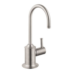 Hansgrohe - Hansgrohe C Beverage Steel Optik Faucet - With refined details,this Hansgrove C-beverage faucet steel Optik adds a touch of elegance to your kitchen decor. The tall size allows you to easily hold a glass underneath for cleaning or for gathering water.