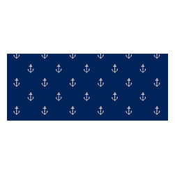 Pop & Lolli - Anchors Away Wallpaper, Navy - Anchors from Sarah Jane's Out to Sea Fabric collection, now on wallpaper!