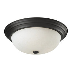 Z-Lite - Z-Lite Athena Ceiling Light X-3F7112 - This exquisite three light Ceiling Light fixture finished in matte black complete with a white mottle glass shade, simple detailing and clean lines, is sure to capture the attention of any visitor to your home.