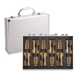 Inova Team -Contemporary Beer Briefcase - It's Friday night, and you want to bring a 6-pack of your best beer to a friends house party.  Ordinary bland people would just use the flimsy cardboard carrier they came in risking damage to the beers in transit and showing zero originality.  But not you.  You want to make a statement and arrive in style.  YOU put YOUR beers in our secret service looking Beer Briefcase.