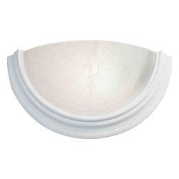 VOLUME LIGHTING - Sconce Fixture-1 Light-14.75 In. Textured White - Sconce fixture, 1 light|Textured white finish, Alabaster glass