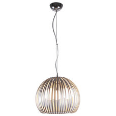 Contemporary Pendant Lighting Bromi Design Fullerton Modern Stainless Steel Pendant