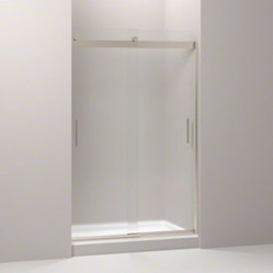 "KOHLER Levity(R) sliding shower door, 74"" H x 44-4/8 - 47-5/8"" W, with 1/4"" thic"