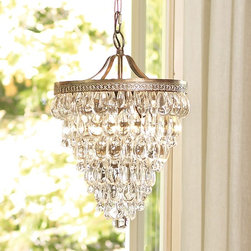 Clarissa Glass Drop Chandelier - I love the simple elegance of this chandelier. I could see it doubled as pendants over an island or on it's own.