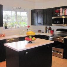 Traditional Kitchen Black & White Kitchen Update