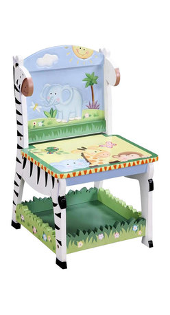 Teamson Design - Teamson Kids Sunny Safari Hand Painted Kids Chair - Teamson Design - Kids Chairs - W8267A3. Have a seat in a chair that brings life through the wonderful animal paintings! The pure texture will keep your little ones excited and bring life to every room!