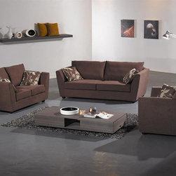 The Martino Fabric Sofa Set YF6113 - This three pieced fabric sofa set includes the 3 seater, 2 seater and the loveseat
