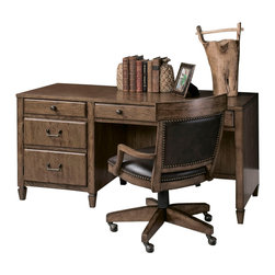American Drew - American Drew Americana Home Desk in Warm Oak - Americana Home is a casual, life style grouping with an eclectic mix of design elements and materials. This collection is truly inspired by American and iconic destinations from coast to coast. Americana Home captures design elements from country, lodge, cottage, coastal and even more urban loft/industrial looks. This unique collection brings a sense of timeless and comfortable places that span from the coast to the mountains of America. The Neutral pallet offered by the simplistic styling and casual finish allow this collection to take own many design trends and consumer's personal flavor. Americana Home will be at home in almost any setting.