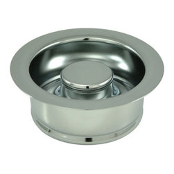 Kingston Brass - 3-1/2in. Garbage Disposal Flange - The garbage disposal flange features a round-shaped 3-1/2in. ring (4-1/2in. surface) with a 3-1/2in. stopper inserted inside built effectively to drain water and help alleviate small food litter while cleaning your kitchen appliances. Available in a variety of finishes, this product will be compliant to your existing decorative items.