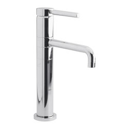 Hudson Reed - Chrome Single Hole Tall Faucet Single Lever Swivel Spout - Chrome Single Hole Vessel Kitchen/Lavatory Faucet Single Lever Swivel Spout.  Sleek minimalist design.  Iincorporating the latest ceramic cartridge technology.  Single lever control.  Swivel spout to create more space.  Warranty: 10 years.