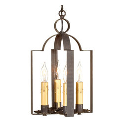 Irvin's Tinware - Four Light Saddle Light in Blackened Tin - Beautiful in its classic simplicity, our versatile Saddle Light is equally at home in an entryway or a country laundry room. Because of its adaptability to every space, this classic has become the choice of decorators everywhere.