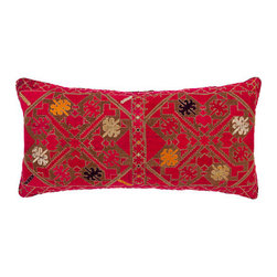 Vintage Textile Pillow Madeline Weinrib Atelier - Stunning depth of color and field in this vintage textile pillow. Pillows are a great way to change the design and feeling in your home any time you choose, whatever your mood or season.